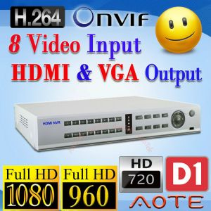 NVR Network Video Recorder NR508 HD 1080P 960P 720P