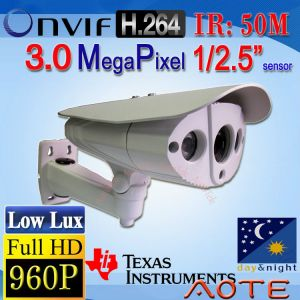 W5992H-B HD 960P 3MP H.264 IP Camera Low Lux ONVIF