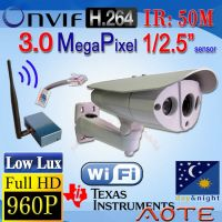 W5992H-B-WiFi HD 960P H.264 IP Camera Low Lux