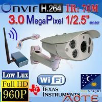 W5999H-B-Wi-Fi HD 960P 3MPl H.264 Night Vision IP Camera Low Lux