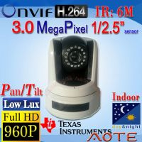 W821H-B HD 960P 3MP H.264 PTZ Dome IP Camera ONVIF